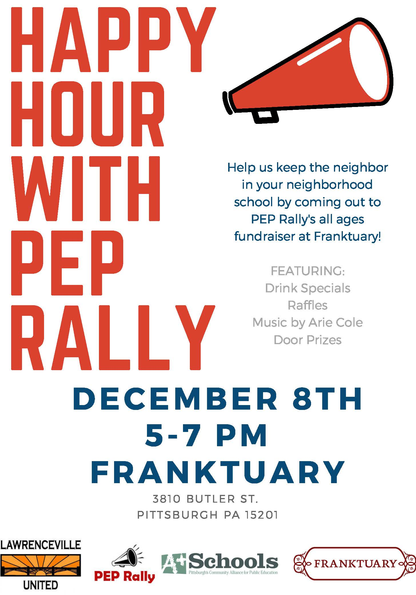 Join us for a PEP Rally Happy Hour!