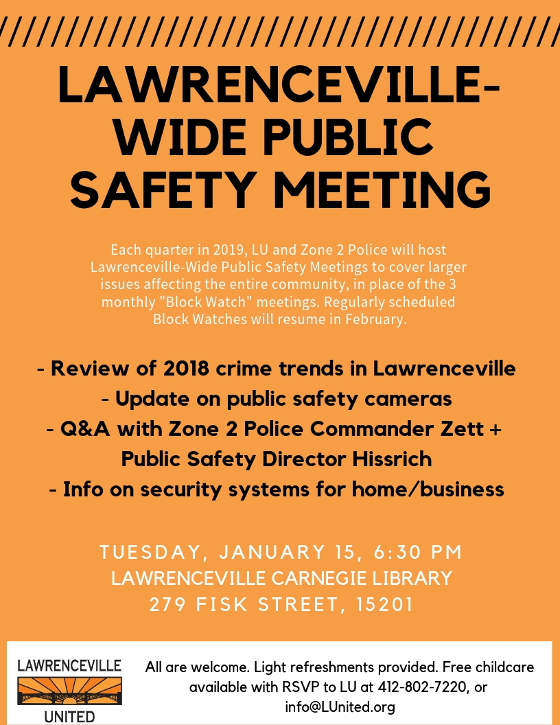 Lawrenceville-Wide Public Safety Meeting – Lawrenceville United